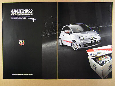 2009 Fiat Abarth 500 Esseesse photo vintage print Ad