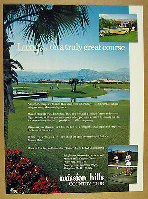 1975 Mission Hills Country Club palm springs golf course photo vintage print Ad