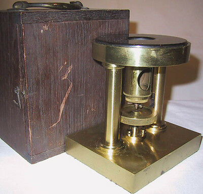 Lacquered Brass Microscope Slide Welcker-Pattern Microtome