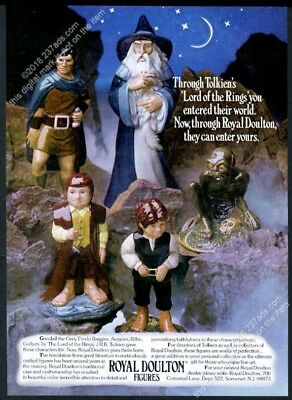 1980 J.R.R Tolkien Lord of the Rings figure photo Royal Doulton vintage print ad