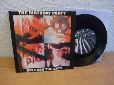 """The Birthday Party Release The Bats 7"""" 45 UK Press 1981 Nick Cave mint"""