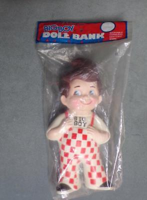 Vintage Big Boy Restaurant Advertising Rubber Doll Coin Bank 1973 (New with Bag)
