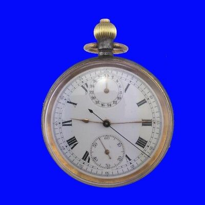 GPO Post Office No 1 Valjoux 15J Chronograph Stop Pocket Watch 1914