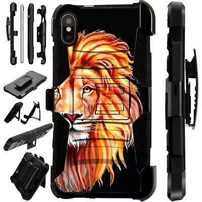 Lux-Guard For iPhone 6/7/8 PLUS/X/XR/XS Max Phone Case Cover LION HALF FACE