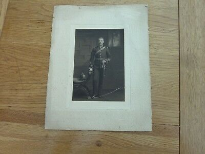 1900c ORIGINAL MOUNTED PHOTO YOUNG OFFICER IN DRESS UNIFORM TAKEN BROMLEY
