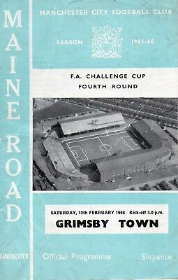 Manchester City V Grimsby 1965/6 Fa Cup