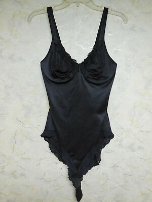 Vtg Curvation Full Body Black Girdle, All In One, One Piece Girdle, Sz 36C
