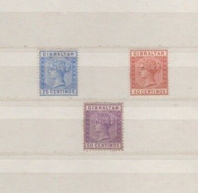 3 very nice unused Gibraltar Victoria issues