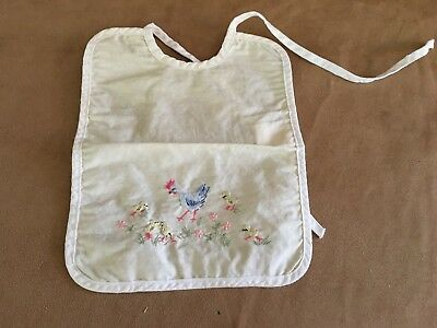 Oco Switzerland Chicken Vintage Baby Bib embroidered clothing Reborn doll yellow