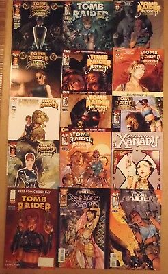 "Tomb Raider , Tomb Raider ""Journeys""...lot of 14 Top Cow/Image + 1 Comics"