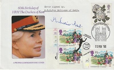 Cover Signed Katherine Duchess Of Kent & Letter The Andrew Swanston Collection
