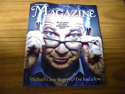 TIMES exclusive MICHAEL GOVE.DARCEY BUSSELL.TALA RAASSI.UK magazine. 8.10.16
