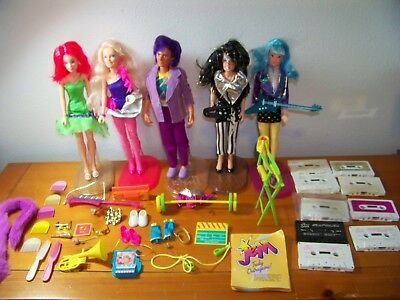 Jem Doll LOt 5 NICE doll 9 Cassets Instruments Shoes Furniature Stands Acc +++++