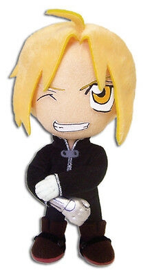 Fullmetal Alchemist Brotherhood Official Edward Black Jacket Plush *NEW*