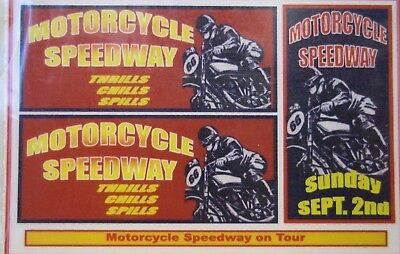 Motorcycle Speedway on Tour sticker decals, (B)