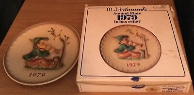 Goebel M.J Hummel Annual Collector Plate 1979 Singing Lesson Boxed
