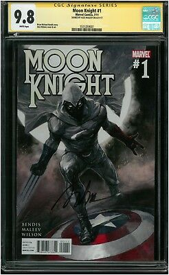 Moon Knight #1 - CGC SS 9.8 NM/MT - Marvel 2011 - Signed by Alex Maleev!