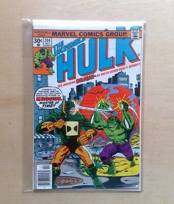 INCREDIBLE HULK VOL.1 #204 MARVEL COMICS 1976 1st PRINT 'KRONUS' FINE COPY