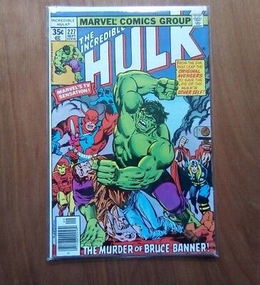 INCREDIBLE HULK VOL.1 #227 MARVEL COMICS SEPT. 1978 1st PRINT CENTS COPY V/FINE
