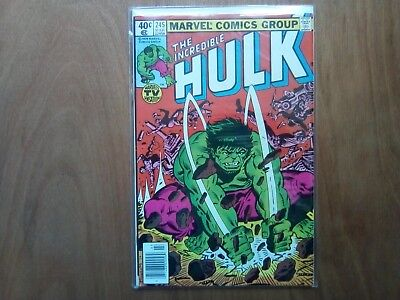 INCREDIBLE HULK VOL.1 #244 MARVEL COMICS MAR 1980 1st PRINT CENTS COPY FINE COND