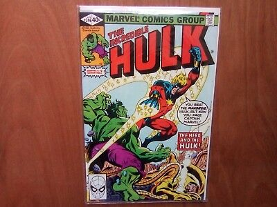 INCREDIBLE HULK VOL.1 #246 MARVEL COMICS APR 1980 1st PRINT CENTS COPY FINE COND