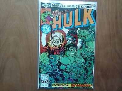 INCREDIBLE HULK VOL.1 #248 MARVEL COMICS 1980 1st PRINT CENTS COPY FINE COND