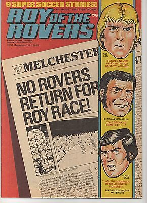 ROY OF THE ROVERS 6th AUGUST 1983 EXCELLENT CONDITION