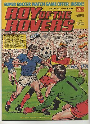 ROY OF THE ROVERS 2nd JUNE 1984 EXCELLENT CONDITION