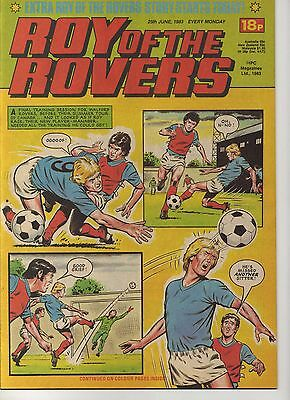 ROY OF THE ROVERS 25th JUNE 1983 EXCELLENT CONDITION