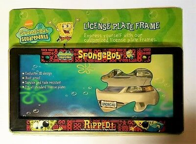SPONGEBOB Squarepants RIPPED! - License Plate Frame - NEW in Package  RARE Wow!