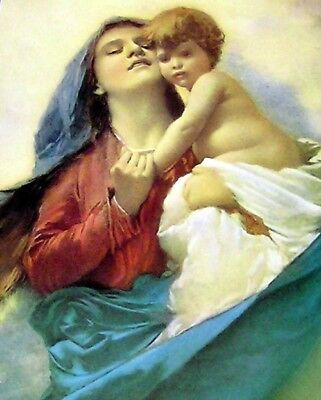 """Madonna & Child, 10"""" X 8"""",  Made in Italy, New, Renaissance, Unframed"""