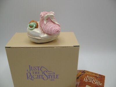 Just The Right Shoe Raine Willittis Designs PINK LULLABYE Baby Shoe Trinket Box