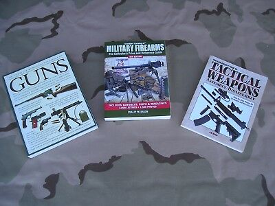 Military Rifle & Long Gun Books-Lot Of 3-Worlds Encyclopedia-Collectors Guide