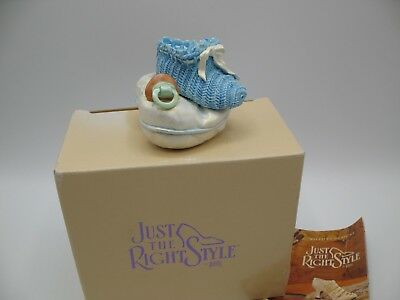 Just The Right Shoe Raine Willittis Designs BLUE LULLABYE Baby Shoe Trinket Box