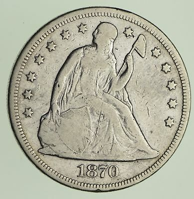 1870 Seated Liberty Silver Dollar - Circulated *9292