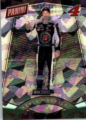 2017 Panini National Convention Vip Prizm Cracked Ice #83 Kevin Harvick Rac / 25