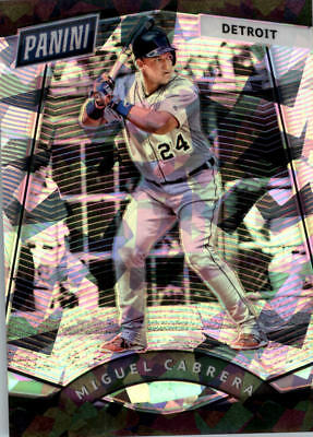 2017 Panini National Convention Vip Prizm Cracked Ice #69 Miguel Cabrera Bb /25