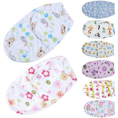 Fj- Lc_ Baby Newborn Infant Swaddle Wrap Blanket Sleeping Bag For 0-6Months Reco