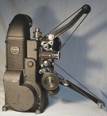 AMPRO Precision 16mm Movie Projector with 750 Watt Bulb and DeVry Lens