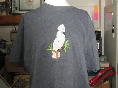 New  Umbrella  Cockatoo Embroidered T-Shirt Add Name For Free