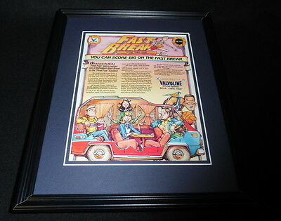 1985 Valvoline Oil NCAA Final Four Framed 11x14 ORIGINAL Vintage Advertisement B