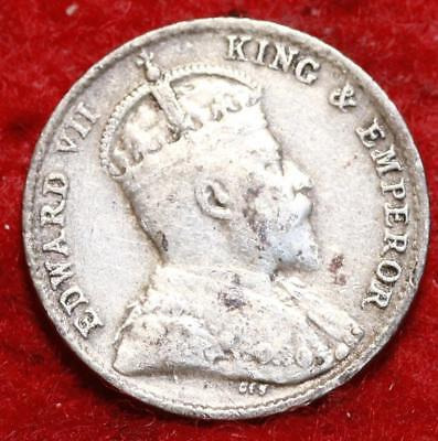 1910-B Straits Settlements 5 Cents Silver Foreign Coin