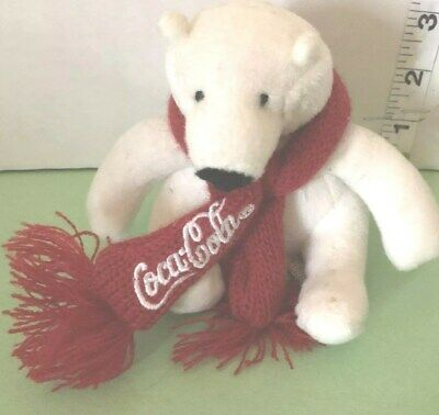 "Coca Cola Polar Bear ..with Red Scarf .5"" Tall"