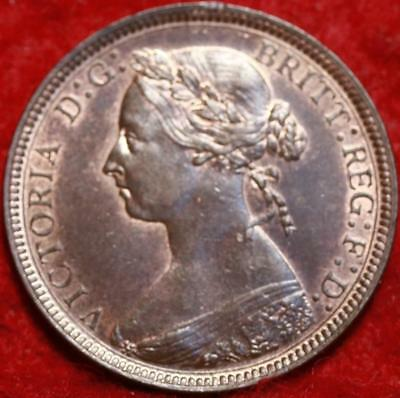 Uncirculated 1888 Great Britain 1/2 Penny Foreign Coin