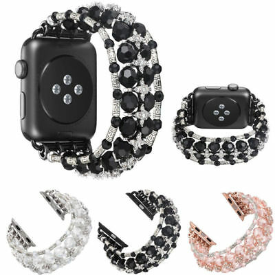 For Apple Watch 1 2 3 4 Bling Pearl Beads Strap Bracelet iWatch Band 42mm/38mm