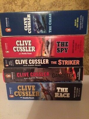 Lot Of 5 Clive Cussler Books On Audio Cds Audio books audiobooks