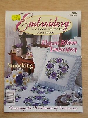 Embroidery & Cross Stitch Vol 5 #4~Smocking~Echinacea~Sheep~Flowers~Nightgown