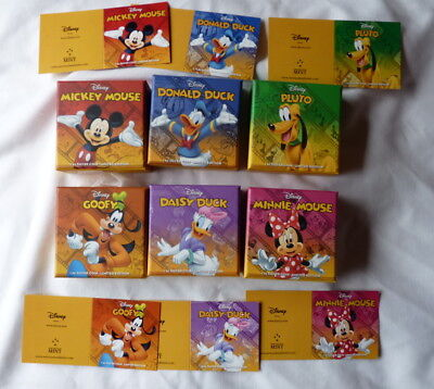 Mickey Mouse SIX Mint BOXES and INSERTS For 2014 DISNEY Nieu 1 Oz Silver Coins