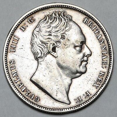 1836 King William Iv Iiii Great Britain Silver Halfcrown Half Crown Coin