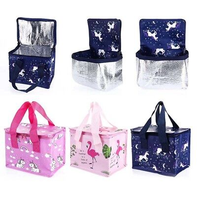 Child Adults Unicorn Flamingo Lunch Bags Insulated Picnic Bag School Lunchbox.